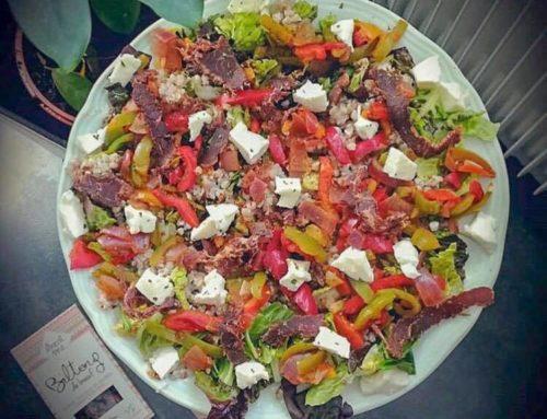 Une salade au Biltong de piment qui va réveiller vos papilles